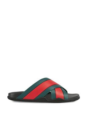 حذاء مفتوح أخضر
