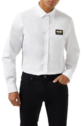 قميص برقعة شعار الماركة