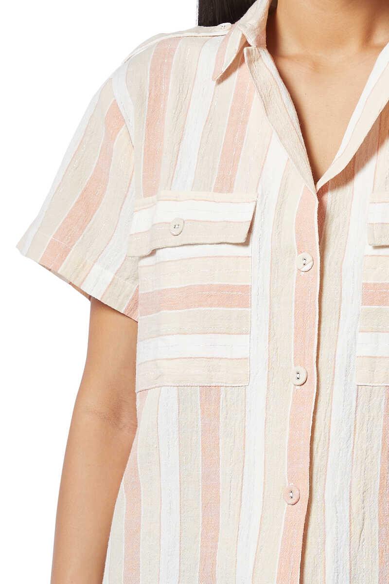 قميص يومي لوركس مخطط image number 4
