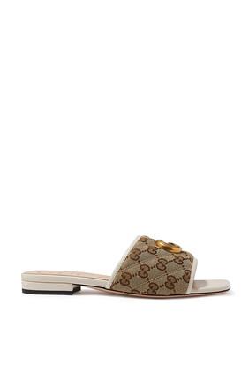 حذاء جولي مفتوح بشعار GG