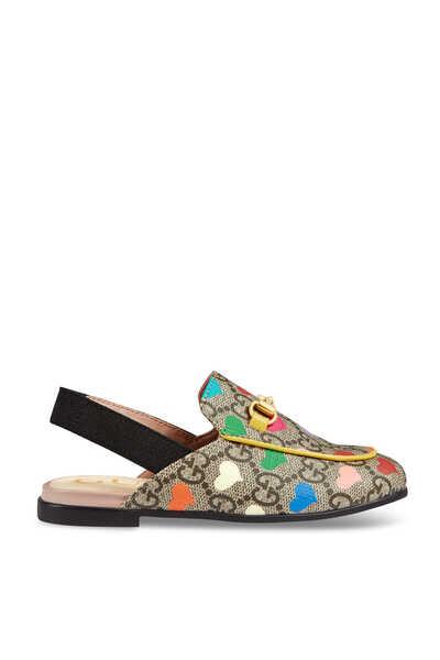 حذاء برينستاون سهل الارتداء قنب بنقشة قلوب