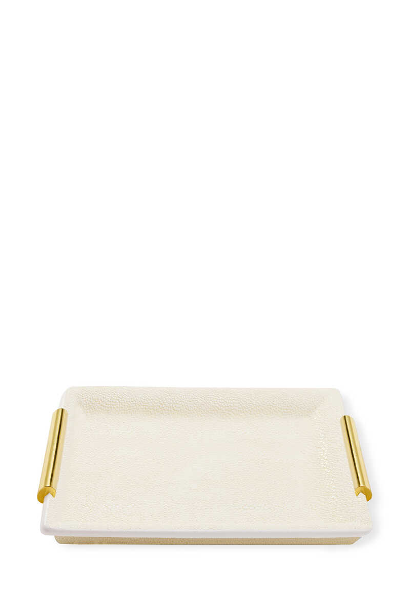 AE Shagreen Vanity Small Tray:Multi Colour:One Size image number 1