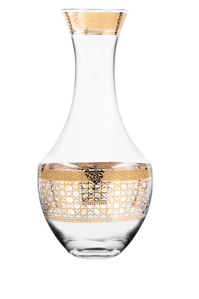 زجاجة كريستال بلون ذهبي
