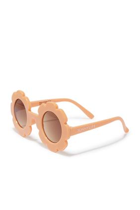 نظارة شمسية صغيرة بتصميم زهور الأقحوان