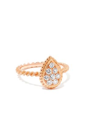 RING SERPENT BOHEME P GOLD M MOTIF PAVED:Pink gold:57