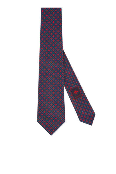 ربطة عنق حرير بنقشة حرفي GG ونفل