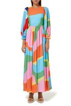 فستان فيولا طويل