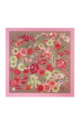 شال حرير بنقشة باقة زهور الربيع