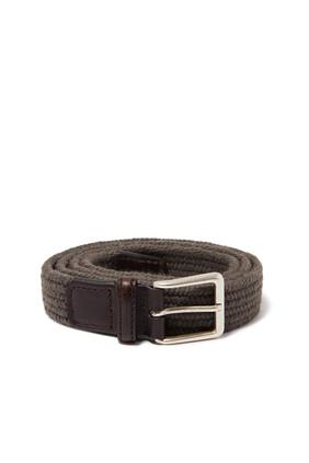 حزام صوف بتصميم مجدول