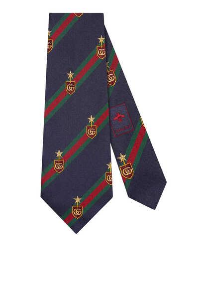 ربطة عنق حرير بنقشة ويب بتصميم ملكي