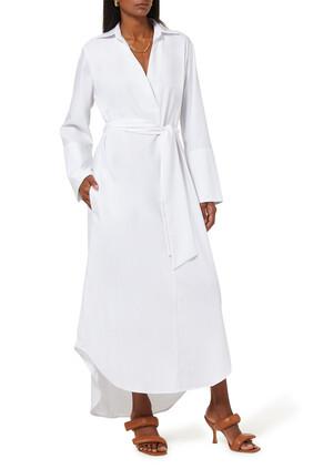 فستان كيني بنمط قميص