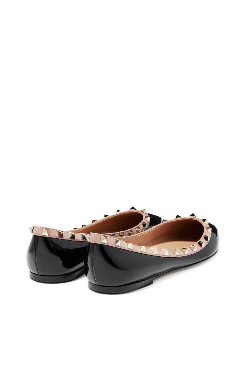 حذاء باليرينا فالنتينو غارافاني جلد لامع بحلي هرمية image number 3