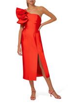 فستان لايتننغ متوسط الطول بكتف مكشوف