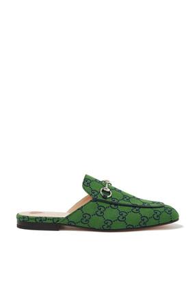 حذاء برينستاون مفتوح من الخلف بشعار GG