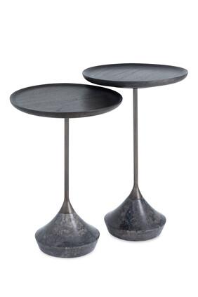 طقم طاولات جانبية بوجليا، قطعتان