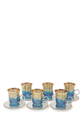 طقم أكواب شاي، 6 قطع