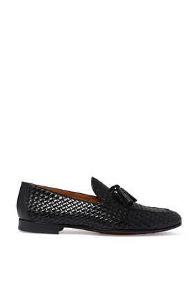 حذاء سهل الارتداء بتصميم مجدول وشرّابات