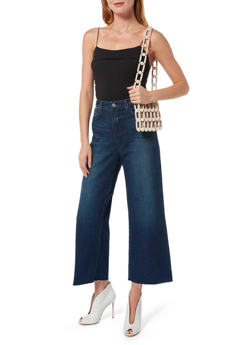 بنطال جينز دينم دانيكا بساقين واسعتين image number 2