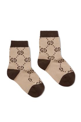 جوارب قطن بنقشة حرفي GG