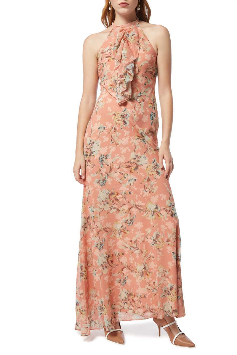 فستان سهرة أن رافل بنقشة الزهور image number 2