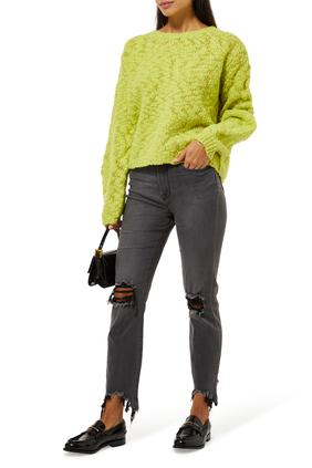 بنطال جينز سكيني هاي لاين