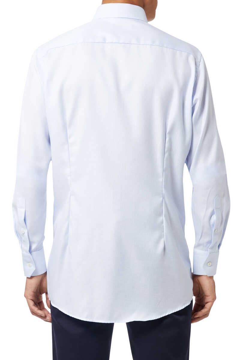 قميص بنقشة شيفرون بملمس بارز image number 3