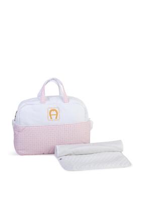 حقيبة مستلزمات الأطفال بشعار الماركة