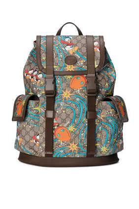 حقيبة ظهر متوسطة بطبعة دونالد دك ديزني × غوتشي