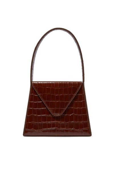 حقيبة ليزا ميني بنقشة جلد الزواحف