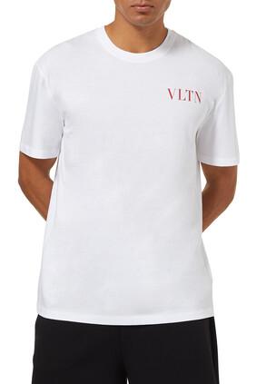تي شيرت بطبعة شعار VLTN