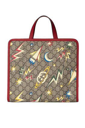 حقيبة يد بطبعة فضاء وشعار GG