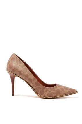 حذاء كلاسيك ويفرلي قنب مطلٍ ومزين بشعار الماركة