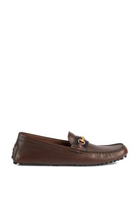 حذاء درايفر للرجال بشريط ويب