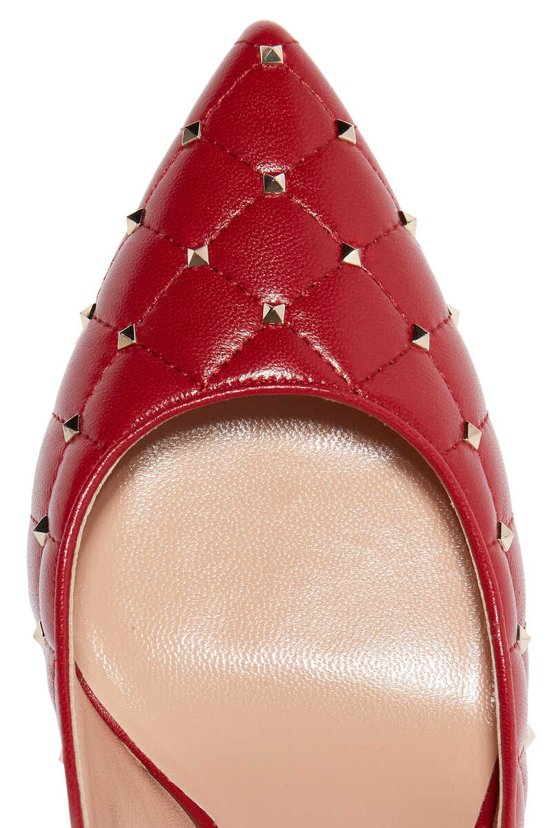 حذاء كلاسيك فالنتينو غارافاني سبايك جلد بحلي هرمية image number 4