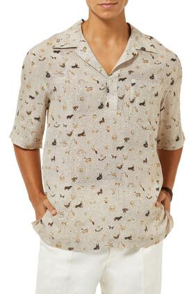 قميص بولين بنقشة فولز بارادايس