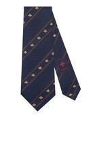 ربطة عنق حرير بنقشة ويب ونحل