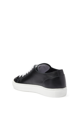 ERIC RUBBER SOLE TENNIS SNEAKERS:BLK:44