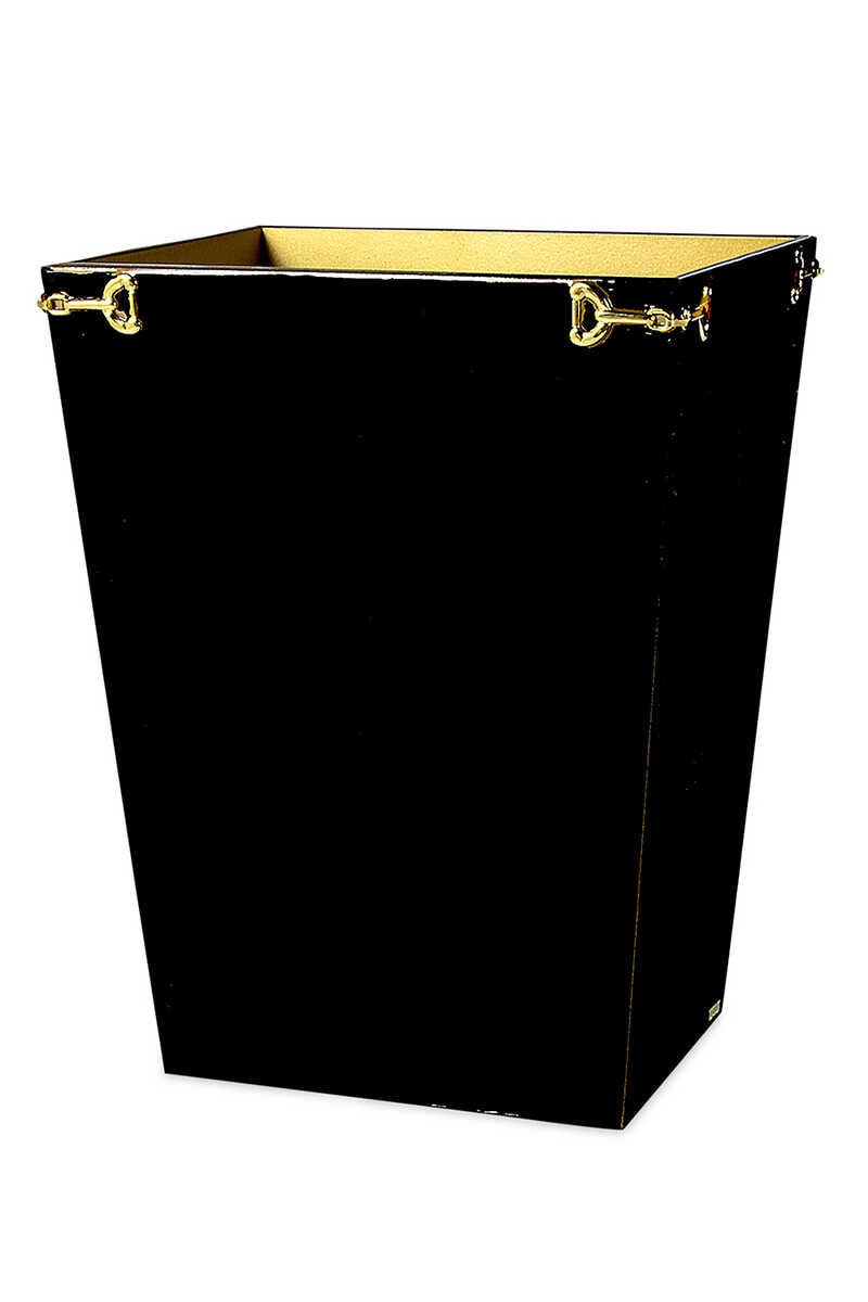MAL Waste Basket Hampton Blk/Gold:blk:One Size image number 1
