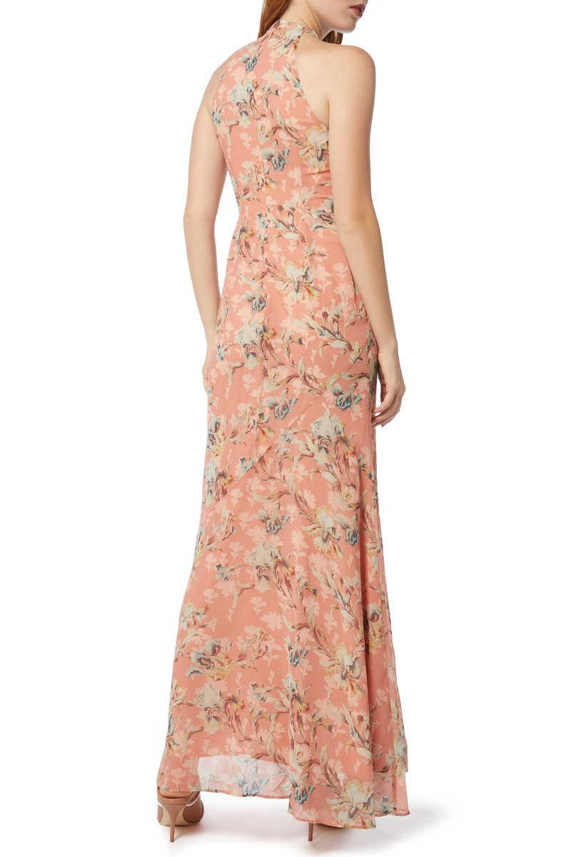 فستان سهرة أن رافل بنقشة الزهور image number 3