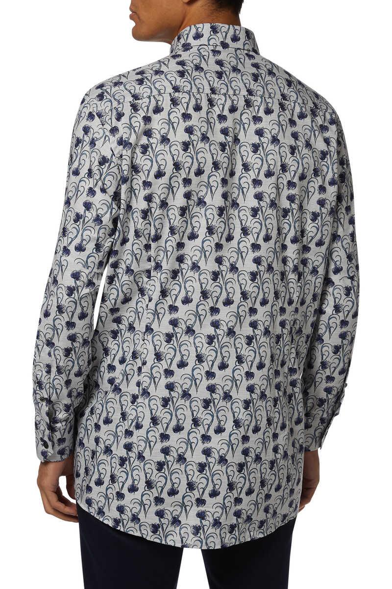 قميص فلانيل بنقشة زهور image number 3