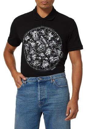 قميص بطبعة خريطة الأبراج الفلكية