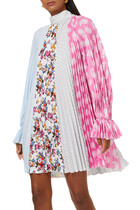 فستان بطيات وعقدة