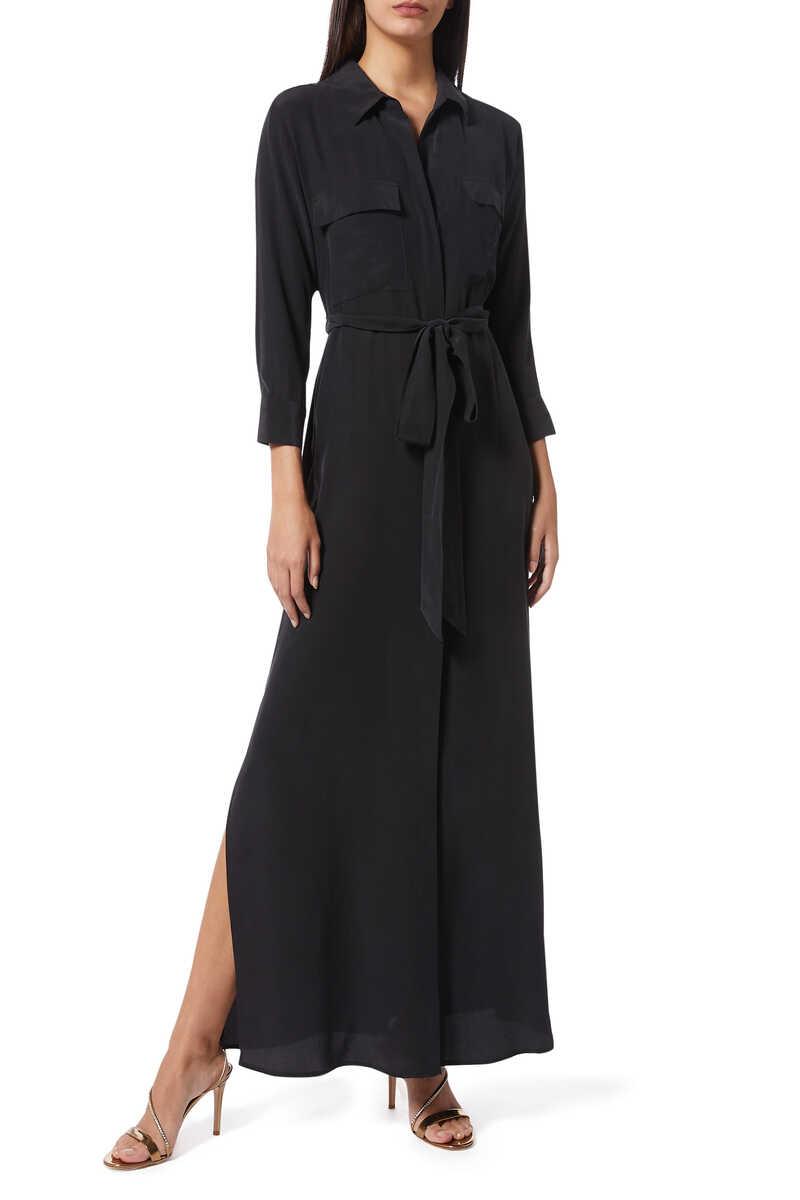 فستان كاميرون طويل بنمط قميص image number 1