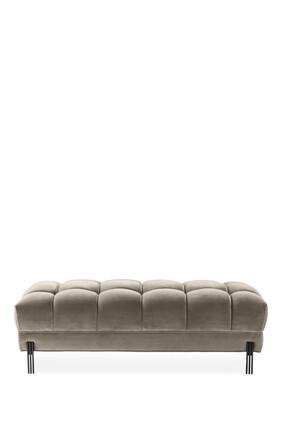 مقعد سيينا سافونا مخملي رمادي اللون