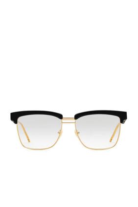 نظارة بإطار مربع من أسيتات ومعدن
