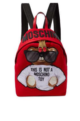 حقيبة ظهر نايلون بتصميم الدب تيدي