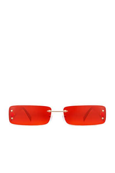 نظارة شمسية هيت حمراء بنقشة سعف النخيل