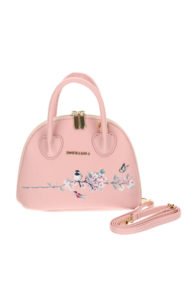 حقيبة جلد صديق للبيئة مزينة بزهور