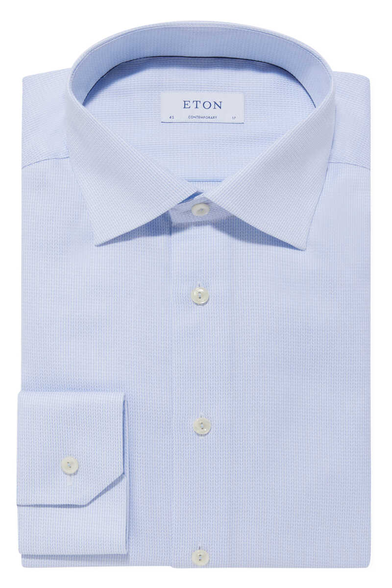 قميص بنقشة شيفرون بملمس بارز image number 1