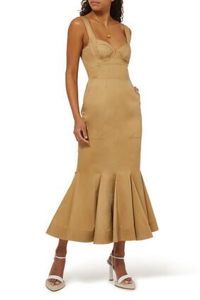 فستان ليف بكشكش
